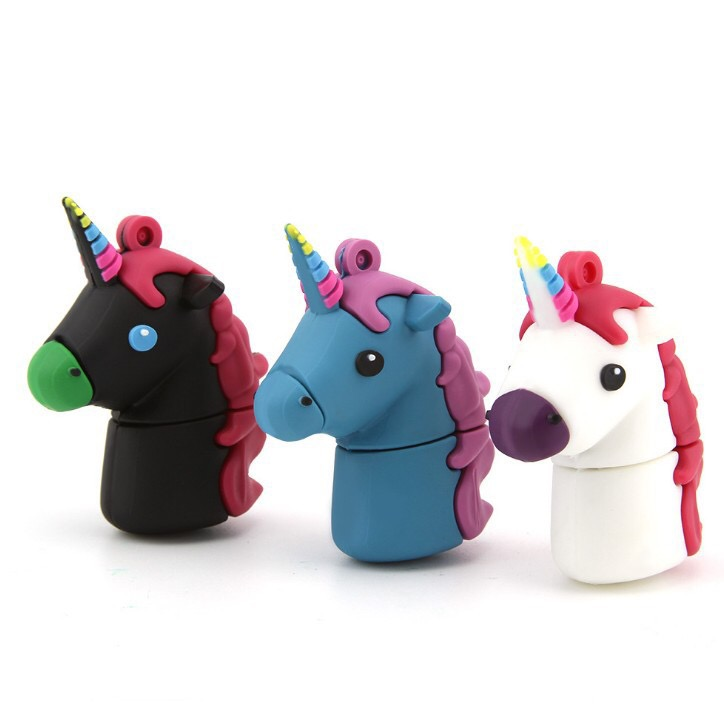 Custom Shaped USB Flash Drives Cartoon Unicorn USB for Kids Gift