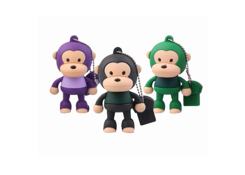OEM| Cartoon Shaped USB Flash Drive, 4GB 8GB 16GB 32GB 64GB Monkey USB